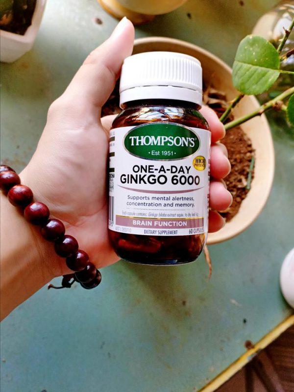 Viên uống bổ não Thompson Ginkgo với hàm lượng 6000mg của ÚC